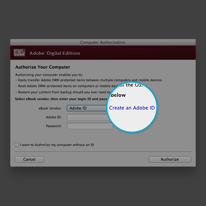Creating an Adobe ID - kobo com/help
